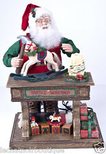 Holiday Creations Animated Musical Santa Claus TOY WORKSHOP Christmas SEE VIDEO