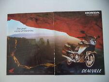 advertising Pubblicità 2002 MOTO HONDA DEAUVILLE