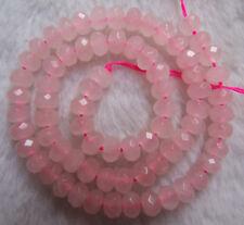 "5x8mm Natural Rose quartz Faceted Rondelle Loose Beads 15"""