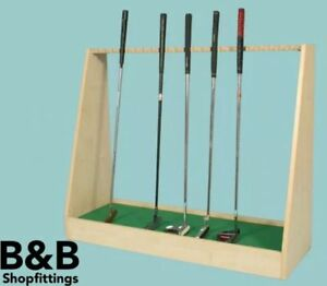 GOLF SHOP RETAIL PUTTER DISPLAY STAND 3 finishes 1000 X 360 MM - last of stock!!