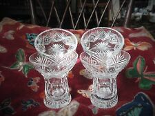ELEGANT PAIR CUT CRYSTAL GLASS PIN DISHES & MATCHING SMALL VASES GLASSES WEBB