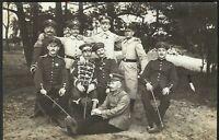 HUSSAR GERMAN CAVALRY WW1 ACADEMY MILITARY ANTIQUE WAR RPPC PHOTO POSTCARD
