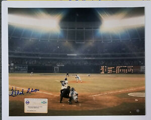 HANK AARON signed 16x20 Photograph SI Cover 715 HR BRAVES auto STEINER MLB