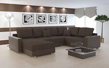 Couch Garnitur Ecksofa Sofagarnitur Sofa STY. 8 U Wohnlandschaft Schlaffunktion