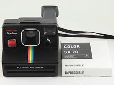 Vintage Polaroid OneStep SX-70 Rainbow Stripe Camera with Film TESTED & WORKING