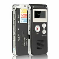 Voice Recorder Mini Spy Audio Recorder Dictaphone 8GB MP3 Player USA SELLER