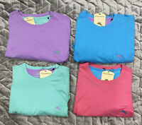 Tommy Bahama Mens Cool Cotton Crew Neck Pocket T Shirt Blue Green Pink & Purple