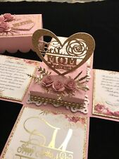 Mother's Day or Birthday Exploding Pop-up Box Card- Handmade