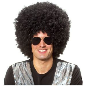 Afro Wigs, Big and Black 70s Funny Adult Halloween Costume Fancy Dress