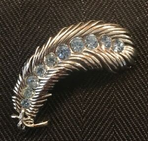 Vintage Silver Metal And Blue Stone Pin