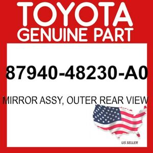 TOYOTA GENUINE OEM 87940-48230-A0 MIRROR ASSY, OUTER REAR VIEW 8794048230A0