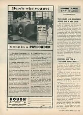 1959 Hough Payloader Ad Final Testing of Dynamometer Before Shipping Dozer