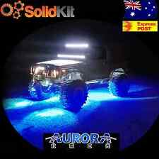 Twin Pack BLUE Aurora Mini Rock Under Vehicle LED Flush Reverse work light bar