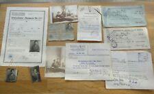 Nachlass Ausweise + Dokumente + Fotos Leuna Werke Merseburg 1919