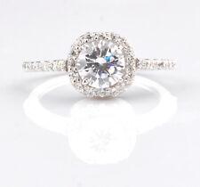 2,20Kt runden Form 585er Weiß gold gut aussehend Solitär Verlobung Ring