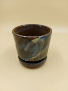 """Rare Vintage Small Planter Pottery Craft # 610 Made In USA  15.8oz.3 1/2 """"×4"""""""