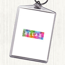 Dark Relax Rainbow Quote Bag Tag Keychain Keyring