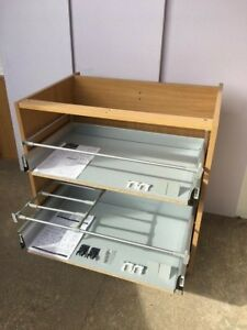 B&Q 18mm Cabinet Premium Soft Close Drawers Drawer 500mm  2 Deep Pan Pack