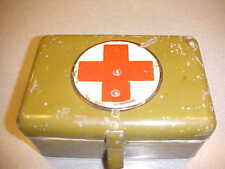 1919 1920S 1930S FIRST AID  KIT WWI WW2 MILITARY TOOL BOX JD TWINS MOTORCYCLE