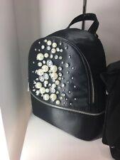 f561f012351 Aldo Jerasa Black Satin ZIPPER Closure Backpack With Tag