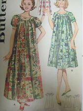 Vintage 60s Butterick 9946 SHALLOW NECK MUU MUU DRESS Sewing Pattern Women Long