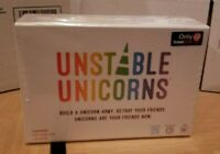 UNSTABLE UNICORNS - U.S. Gamestop exclusive base game with GAMERCORN card