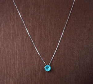 PARAIBA TOURMALINE .925 SOLID STERLING SILVER NECKLACE #10942