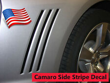 2014 2015 Chevy Camaro Side Vent Inserts Decals Stripes Inlays - BLACK