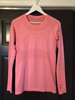 Lululemon Swiftly Tech Crew Long Sleeve 8 Coral Pink Running Top