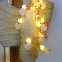 20 LED Christmas Snowman Santa Claus Decor Fairy String Light Party Home Decor