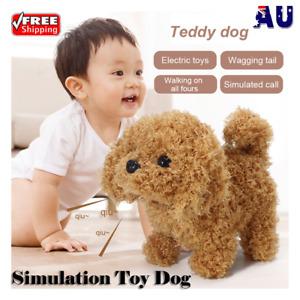 Realistic Teddy Dog Simulation Toy Dog Puppy Lifelike Stuffed Toy AU
