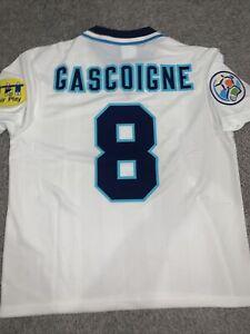 England Euro 1996 96 Home Shirt Football Large Football GASCOIGNE Gazza
