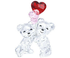 Swarovski Kris Bear Heart Balloons Brand New In Box #5185778 Love Cute Save$ F/S
