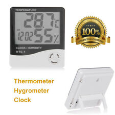 LCD Digital Thermometer Hygrometer Room Baby Outdoor/Indoor Clock Temperature UK