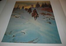 G Harvey IN LAND OF THE ROCKIES - S/N paper Limited Edition RARE Texas Art Press