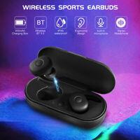 Bluetooth 5.0 TWS True Wireless Touch Mini Earbuds Headphone Headset Waterproof