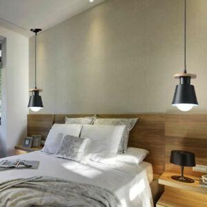 Wood Pendant Light Kitchen Chandelier Lighting Lobby Lamp Modern Ceiling Light