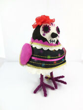2018 Featherly Friends Flora Fabric Bird Figurine Target Halloween Dios Muertos