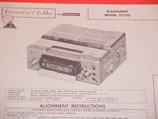 1962 BLAUPUNKT AM RADIO SERVICE MANUAL EXPORT SUPER 91220 (serial # E160001 +)