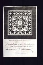 Mosaico scoperto a Catania + Autografo Ferdinand de Lesseps Incisione del 1870