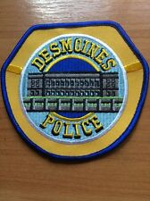 PATCH POLICE DESMOINES IOWA IA STATE