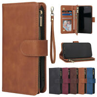 Zipper Leather Wallet Case For Samsung Note 20 Ultra S20 Plus A51 A71 Flip Cover