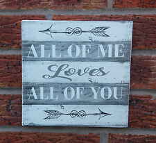 shabby vintage chic wedding all of me loves all of you plaque sign engagement