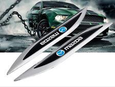 Car Emblems Side Fender Stickers Exterior Decoration Badge Logo For Mazda 3 5 6