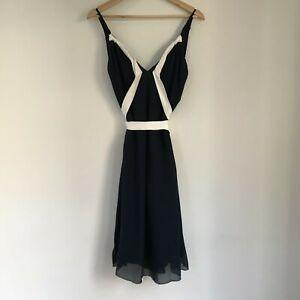 "PAUL & JOE Paris Dress, Size 40, Silk & Cotton ""Ondulant"" Cocktail Party"