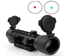 HOT 2x42mm Hunting Scope Sight Red/Green Dot with 20mm Rail Mount for Rifle