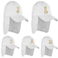 Children Adults Baseball Cap Names Women Girls Hat White Gold Embroidery LA