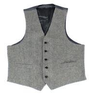 Lauren by Ralph Lauren Mens Suit Vest Gray Size 50R Wool Herringbone $135 #081