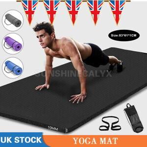 NBR Non-Slip Yoga Mat Exercise Fitness Pilates Camping Gym Meditation Mat Pad UK