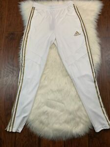 Adidas Tiro 19 Climacool Soccer Pants White Gold Metallic DZ8769 Small New